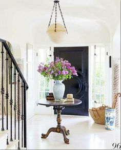 Gorgeous entry way from {Cote de Texas} #VintageStorehouseStyle #EntryWayStyle