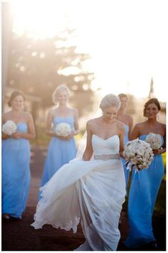 love the bridesmaid's dress color
