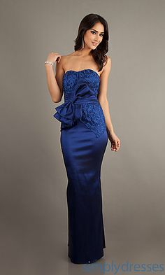 Floor Length Strapless Dress at SimplyDresses.com