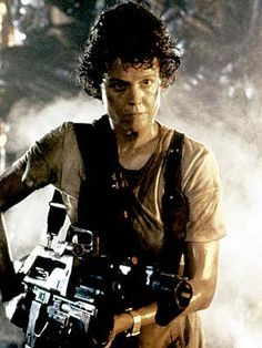 Sigourney Weaver as Ellen Ripley - Alien IMO this was the best female character in a SCIFI movie, ever. Tough doesn't even begin to describe Ripley.