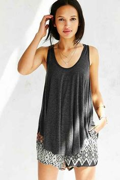 Truly Madly Deeply Scoop-Cut Swing Tank Top - Urban Outfitters