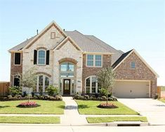 Perry Homes does a beautiful job of mixing exterior brick and stone Dream House Exterior, Dream House Plans, Dream Houses, Exterior Homes, Exterior Design, Nice Houses, Stone Exterior Houses, Exterior Colors, Dream Home Design