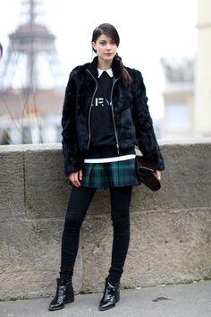 #StreetStyle #Tartan #Fur
