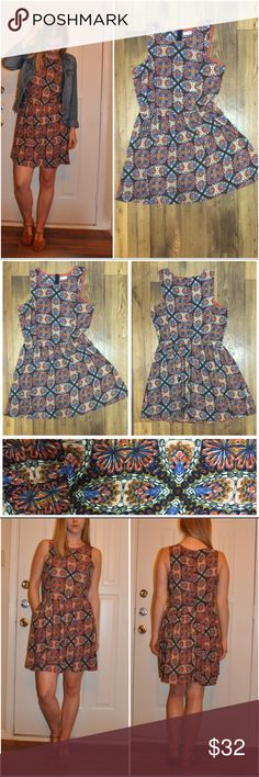 🆕 Listing - Perfect Fall Print Dress Perfect Fall Printed Dress  Size L (I believe it is a 10-12...I will double check it)  Excellent condition.   💲💛OFFERS WELCOME💛💲 ❌NO Trades❌ Less on Ⓜ️ - only ask if serious. Maison Jules Dresses