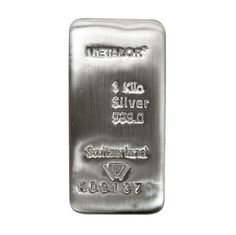 Metalor Silver Bar - 1 kg - VAT FREE