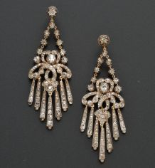 Gorgeous antique earrings in auction today at #Skinnerfinejewelryauctions