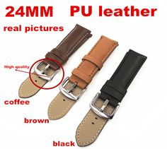 >> Click to Buy << 1PCS High quality 24MM PU leather Watch band  watch strap 3 colors available -090104 #Affiliate