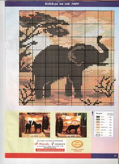 Elephant x-stitch                                                                                                                                                     Más