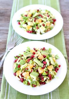 Summer citrus salad with Brussels sprouts and pomegranate!