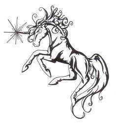 :Unicorn Tattoo design: by Doomwing on DeviantArt Hot Tattoos, Tatoos, Unicorn Tattoos, Unicorn Horse, Cool Tats, A Cartoon, Body Mods, Tattoo Images, Tattoo Inspiration