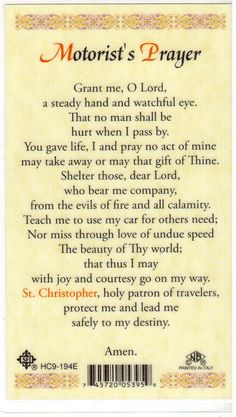Motorist's Prayer - 1 | Found this in a local Catholic books… | Flickr