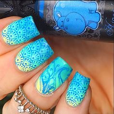 Nail-Art by @clairestelle8 (Check this out on INK361.com) ♥≻★≺♥