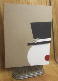 Diy Christmas Cards Frosty Snowman