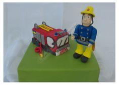 Cake topper con Sam il Pompiere. Il mitico cartone animato, Sam il Pompiere per una torta di compleanno!
