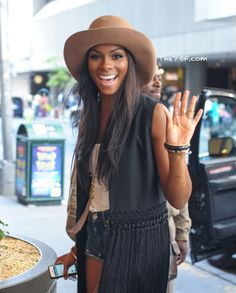 Tika Sumpter cute and casual in NYC