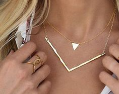 Gold Crescent Moon Necklace Half Moon Necklace Crescent by Donasy