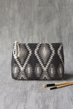 The Geo woven cosmetic bag is perfect for storing makeup, toiletries, accessories, craft supplies and more. Studio Weave, Small Cosmetic Bags, Zipper Pouch, Travel Style, Travel Bags, Geo, Craft Supplies, Zip Around Wallet, Cosmetics