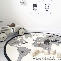 135ea726b US $21.23 45% OFF World Map Play Mats Cotton Cartoon Newborn Developing Mat  baby Carpet Boy Girl Crawling Blanket Kids Maze Game Mat Play Toys -in Play  Mats ...