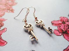 Vintage style key earrings, silver or brass, boho jewelry, Selma Dreams jewellery gifts, lead and nickel free, bohemian accessories by SelmaDreams on Etsy