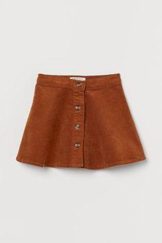 Flared corduroy skirt - Brown - Kids | H&M GB 2 Fashion News, Kids Fashion, Corduroy Skirt, Leggings, Jodhpur, Fall Family, Winter Wear, Fashion Company, Flare Skirt