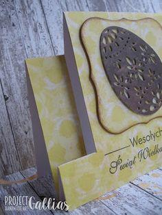ProjectGallias: #projectgallias, Handmade Easter card, Kartka wielkanocna z pisanką