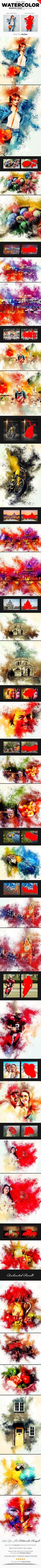 Watercolor Rangoli Dust Photoshop Action