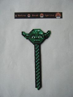 Star Wars Yoda bookmark hama mini beads (13 cm) by  retro-bead-sprite