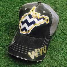 West Virginia Mountaineers WVU State Baseball Bling Ladies Womens Trucker  Hat e96c2cb10a77