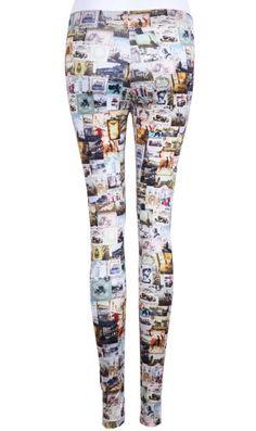 Multi Skinny Pictures Print Leggings