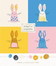 Playful palette: bunny-licious - Lisa Glanz