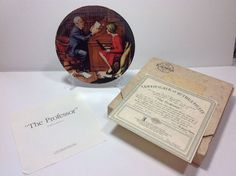 Norman Rockwell The Professor Rockwell Heritage Collection Plate 19349 J Bradex