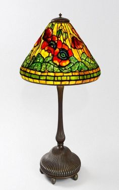 Wire Mesh Poppy Tiffany Lamp 1900