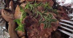 Csomagban sült gombás pulykamáj/ Turkey liver with mushroom