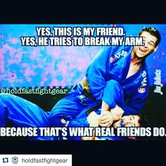 """#Repost @holdfastfightgear with @repostapp. ・・・ I'm lucky to have friends who want me dead like @meljitsu @inkedbjj @horifudo_loyaltytattoo @j0ey_beans…"""