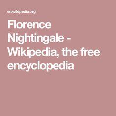 Florence Nightingale - Wikipedia, the free encyclopedia
