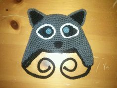 Crochet Kids Racoon Earflap Hat by laceylove81 on Etsy