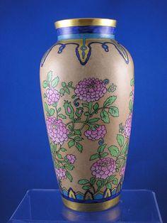 Heinrich & Co. (H) Bavaria Oriental Floral Vase (c.1896-1940)