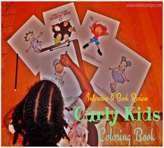Curl Centric presents Curly Kids Coloring Book. This coloring book is 30+ images of beautiful little girls with textured hair. They are sporting TWAs, locs, two strand twist, cornrows, bantu knots and more. #BeCurlCentric