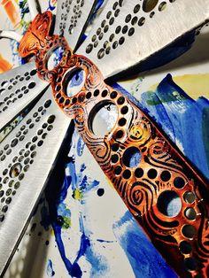"""""""Mr. Medley"""" Dragonfly Garden Art"""