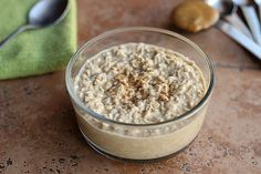 Peanut Butter Cookie Dough Overnight Oats (Dairy-Free and Sugar-Free). Vegan.