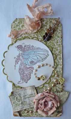 Love this pretty altered tag #paper #crafts