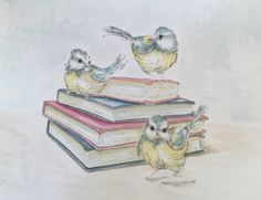Two of my favourite things. Birds & Books by Patricia Mellett Brown.
