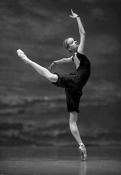on pointe.
