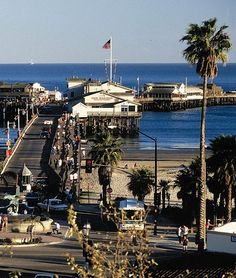 Stern's Wharf in Santa Barbara, California -- shops and restaurants on the wharf