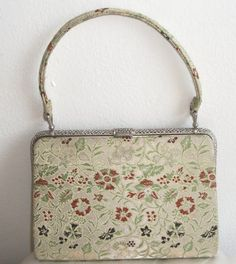 1950s/60s High Quality Tokyo Handbag Floral Silver by SmokyPearls, £75.00