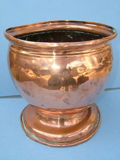 Edwardian Art Metal Copper Planter