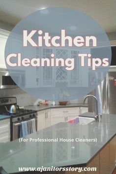 BEST deep cleaning tips for professional housekeeping businesses! Step by step kitchen cleaning guide for residential house cleaning company. Deep Cleaning Checklist, Deep Cleaning Tips, Cleaning Walls, Kitchen Cleaning, Cleaning Routines, Cleaning Lists, Cleaning Schedules, Weekly Cleaning, Kitchen Tips