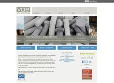 Visual Art Exchange web design, development, navigational structure, usage strategy by Designbox. #designboxweb #designboxbrand #visualartexchange www.visualartexchange.org