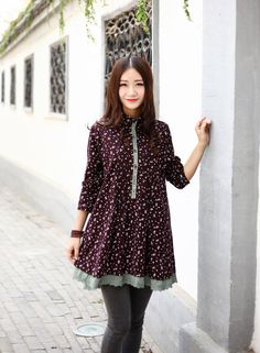 Corduroy Blouse Casual loose dress Kaftan Autumn long blouse Extravagant Daywear Dress Plus size dress Large size dress Women Dresses