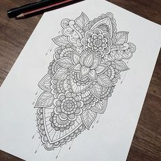 Trendy tattoo back henna sleeve Ideas Henna Sleeve, Mandala Sleeve, Full Sleeve Tattoos, Tattoo Sleeve Designs, Leg Tattoos, Tatoos, Manga Mandala, Mandalas Drawing, Lotus Mandala